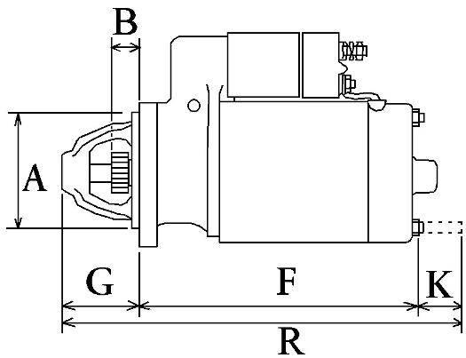 Starter Kubota Z482 / Beta marine BZ482 B14 on