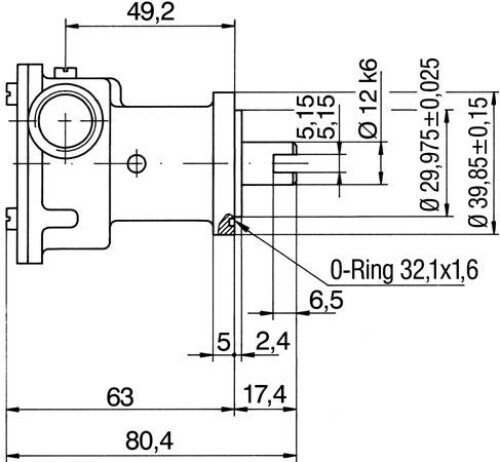 Förderpumpe Ruggerini Lombardini RM80 RM90 MM150 MM190